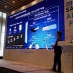 18일 중국 선전 메리어트 호텔에서 열린 '2018 삼성 OLED 포럼'(삼성디스플레이 제공)