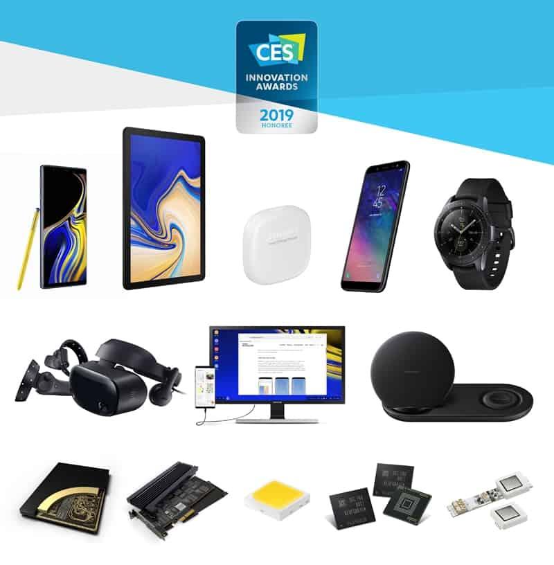CES 2019'에서 혁신상을 수상한 삼성전자의 제품 모습(삼성전자 제공) © 갓잇코리아
