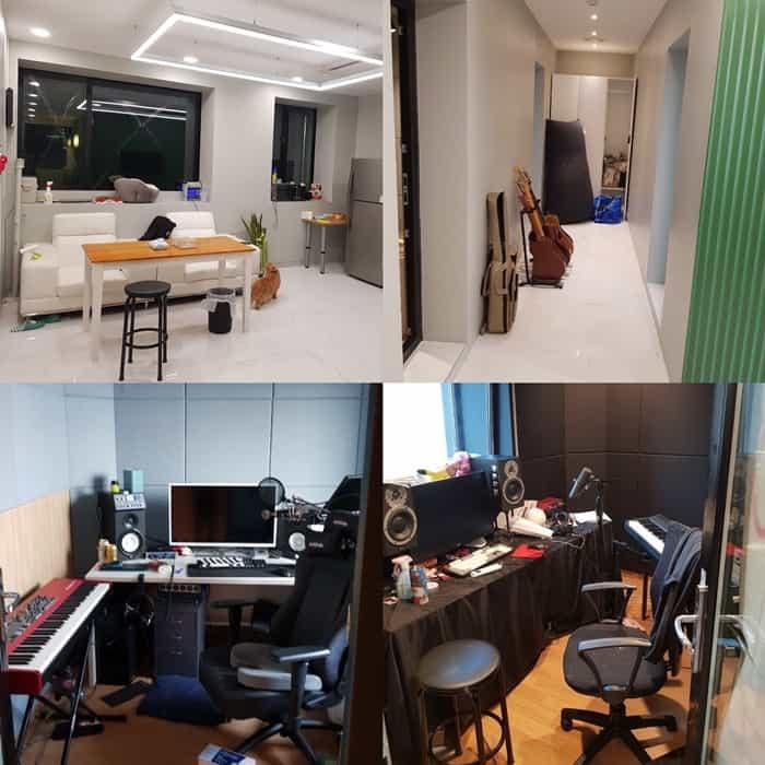 ©갓잇코리아 아이유가 소유한 경기 과천시 건물 내 후배 뮤지션들을 위한 음악 작업실/카카오M 제공