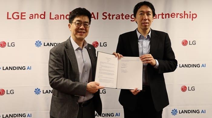 LG전자 미국 실리콘밸리 인공지능 스타트업 랜딩에이아이(Landing AI)와 전략적 파트너십(LG전자 제공) ⓒ 갓잇코리아